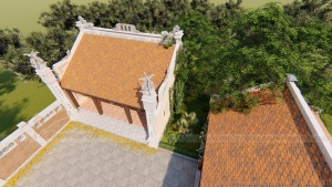 Thiết kế nhà thờ họ 3 gian 2 mái Quảng Bình siêu tiết kiệm