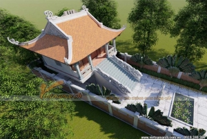 Mẫu nhà thờ họ 4 mái cong mang nét văn hóa đặc trưng của Việt Nam tại Thanh Hóa