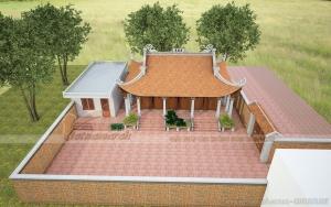 Thi công hoàn thiện nhà thờ 4 mái tại Hải Dương