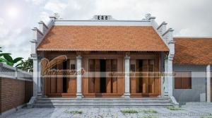 Tư vấn thiết kế nhà thờ họ 3 gian 2 mái cho nhà anh Hùng tại Hải Phòng.
