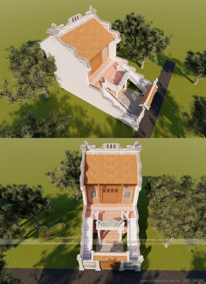 Mẫu nhà thờ họ 2 tầng ở Bắc Ninh
