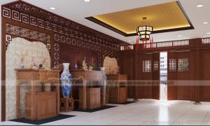 2 phương án thiết kế cho nội thất nhà thờ họ chú Minh ở Huế