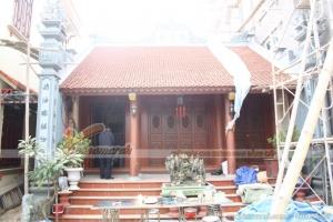 Tiến độ thi công xây dựng nhà thờ họ 3 gian 2 mái ở Thanh Hóa