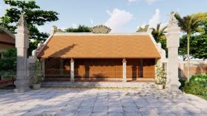 Nhà thờ dòng họ 5 gian 2 mái tại Hưng Yên