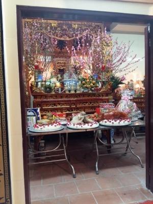 Nội thất bên trong từ đường nhà thờ họ Cung Hồng tại Đại Kim, Hoàng Mai Hà Nội
