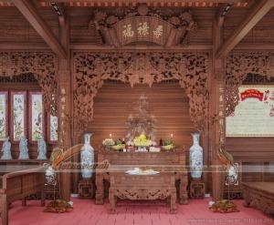 Ngao du nơi chốn vẻ đẹp của mẫu thiết kế nhà thờ họ gỗ Lim tại Hải Phòng
