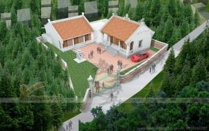Dự án thiết kế mới nhất : nhà thờ họ 3 gian 2 mái nối liền nhà ngang Hải Dương