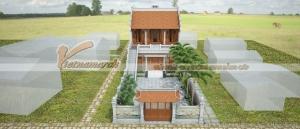 Bất ngờ với mẫu nhà thờ họ có 1 cầu thang 3 hiên cân đối đẹp lạ tại Quảng Bình