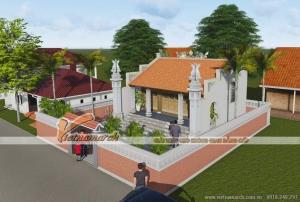Mẫu nhà thờ họ 2 mái truyền thống nhà anh Hưng - Hà Nam