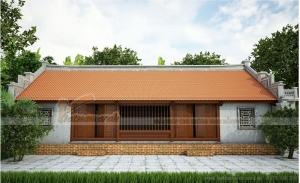 Mẫu nhà thờ họ 3 gian 2 chái, thiết kế theo lối nhà cổ 5 gian truyền thống Việt Nam