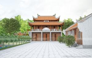 Thiết kế mẫu nhà từ đường 5 gian to đẹp chuẩn thước lỗ ban