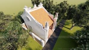 Dự án thiết kế nhà thờ họ diện tích nhỏ 1 gian siêu đẹp tại Sơn La