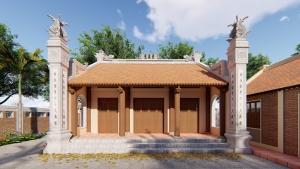 Thiết kế nhà thờ họ ở Ứng Hòa Hà Tây rộng 300m2