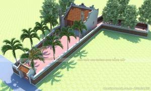 Hồ sơ thiết kế nhà thờ họ 3 gian 2 mái đẹp  chuẩn phong thủy tại hậu Lộc Thanh Hóa