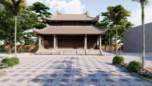 Mẫu nhà thờ họ 8 mái cổ kính cho dòng họ nhà chú Phong tại Thanh Hóa.