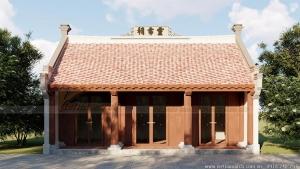 Mẫu nhà thờ họ 3 gian 2 mái  với cửa kính hiện đại tại Vũng Tàu