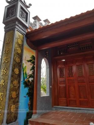 Dự án thi công nhà thờ họ 3 gian 2 mái ở Ba Vì Hà Nội