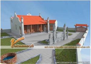 Thiết kế nhà thờ họ chữ nhị ở Nam Định