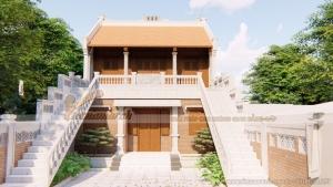 Mẫu nhà thờ họ 2 tầng thiết kế cho nhà bác Hòa ở Quảng Bình