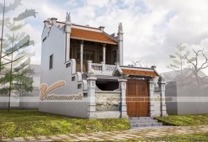 Thiết kế nhà thờ họ 2 tầng nhà anh Hùng ở Nam Định