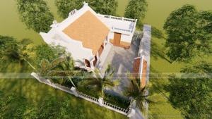 Thiết kế nhà thờ họ liền bếp  diện tích nhỏ 40 m2 Thanh Hóa